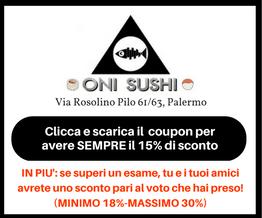 Scarica il Coupon Sconto Oni Sushi